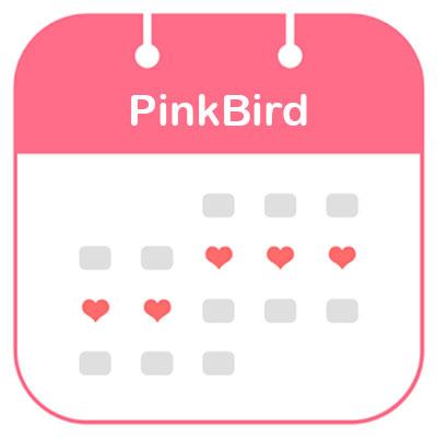 ứng dụng PinkBird theo dõi chu kỳ kinh nguyệt