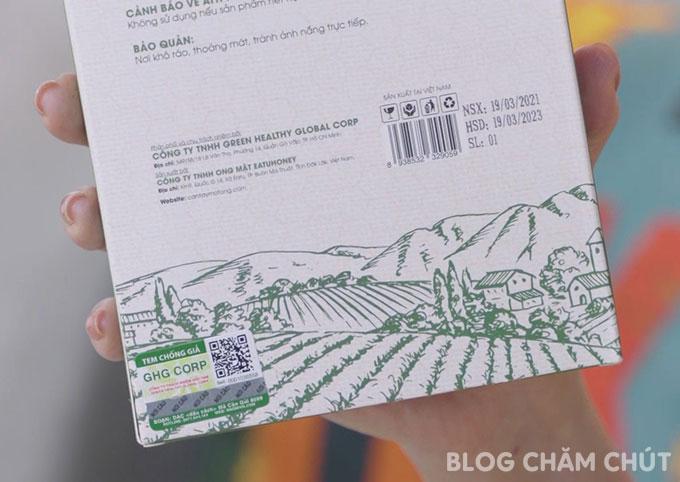 tem chống hàng giả của bột cần tây mật ong motree